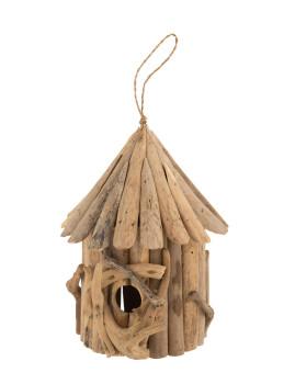 imagem de Casa de Pássaros em Madeira Natural Pequeno1