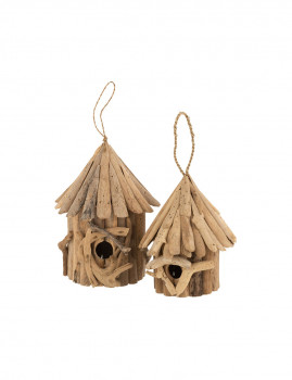imagem de Casa de Pássaros em Madeira Natural Pequeno2