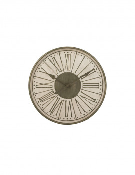 imagem de Relógio em Número Romanos Metal Branco, Caqui1
