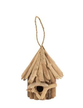 imagem de Casa de Pássaros em Madeira Natural Grande1