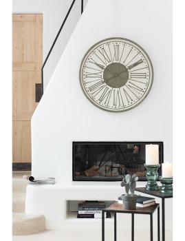 imagem de Relógio em Número Romanos Metal Branco, Caqui3