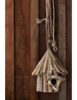 imagem de Casa de Pássaros em Madeira Natural Pequeno3