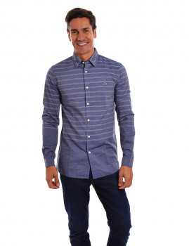 Camisa Manga Comprida Lacoste Homem Azul