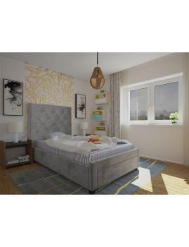 imagem de Cama Doris 190x90 Cinza1
