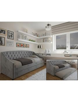 imagem de Cama Sagres 190x90 com gavetão Cinza1