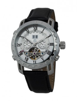Relógio Reichenbach Mewes Homem Prateado e Preto