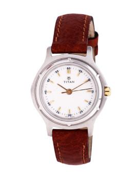 Relógio TITAN Castanho&Branco