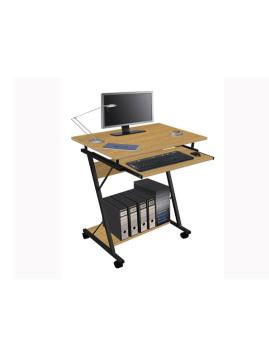 Mesa de Computador Com Prateleira Para Teclado Cerejeira