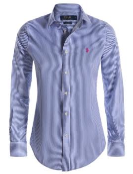 Camisa de Senhora Ralph Lauren Azul e Branco