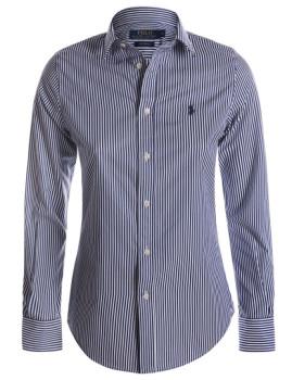 Camisa de Senhora Ralph Lauren Azul Navy e Branco
