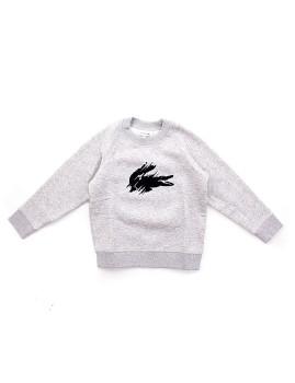 Sweatshirt Criança Lacoste Cinza Mesclada