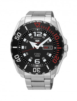 Relógio Seiko  5 Automático Casual / Lifestyle Preto  e Prateado