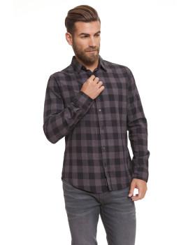 Camisa Homem Obtusa Padrão Cinza