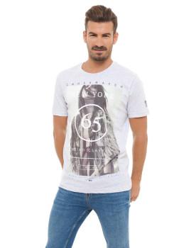 T-shirt Homem NewYork 65 Cinza Claro