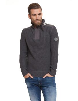 Sweatshirt Homem Garforth Azul Cinza Escuro