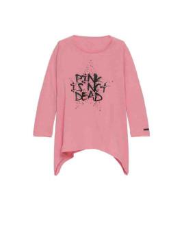 T-shirt Liu Jo menina Rosa claro
