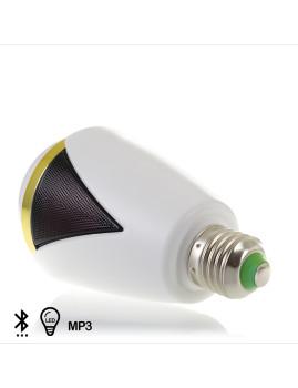Coluna Bluetooth Projeto Lâmpada Com Tampa + Iluminação Led E27