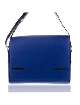 Mala Modelo Portoferraio de Pele Saffiano Azul
