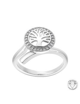 imagem de Anel Árvore da Vida SC Crystal Com Cristais de Boêmia Prateado1