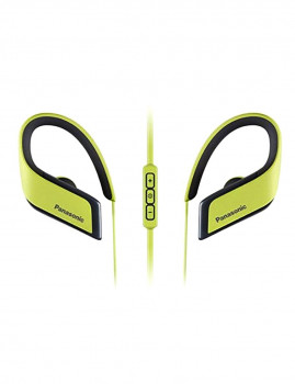 Auriculares Bluetooth Com Microfone Para Prática Desportiva Panasonic Rp-Bts30E Amarelo