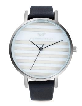 Relógio Victoria Walls Prateado, Branco e Azul Marinho