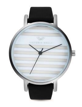 Relógio Victoria Walls Prateado, Branco e Preto