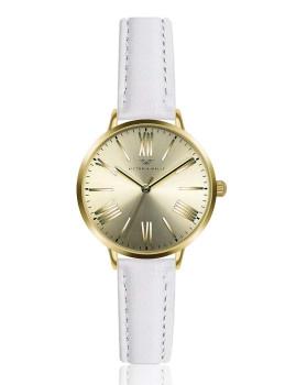 Relógio Victoria Walls Dourado e Branco