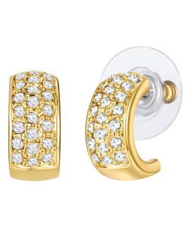 Brincos C/ Elementos Swarovski® Dourado Saint Francis Crystals