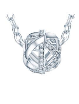 Fio C/ Elementos Swarovski®Prateado III Saint Francis Crystals
