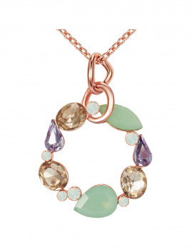 Colar com Swarovski Elements Opal Brancos e Verdes Lilly & Chloe