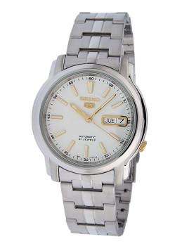 Relógio Seiko 21 Jewels Prateado E Dourado Homem