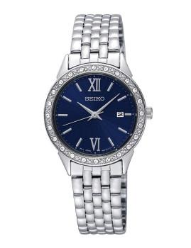 Relógio Seiko Quartz Classic Prateado e Azul Senhora