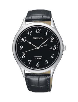 Relógio Seiko Quartz Classic Prateado E Preto Homem