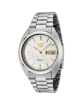 Relógio Seiko 5 Gent Classic Prateado e Dourado Homem