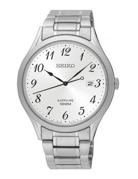 Relógio Seiko Quartz Classic Prateado E Cinza Homem