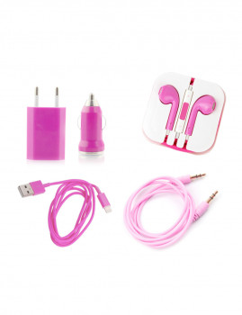 Pack 5 em 1 iPhone 5/6/6 PLUS Rosa