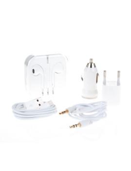 Pack 5 em 1 iPhone 5/6/6 PLUS Branco