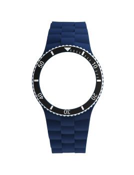 Bracelete  Azul Com Bezel Preto