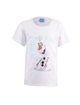 T-shirt Frozen T - Olaf Branco