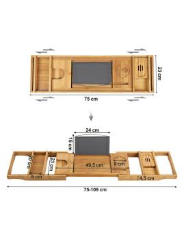 imagem de Mesa Extensível Banho Bambú Natural5