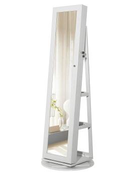 imagem de Estante Bijutaria Com Espelho Completo Branco1