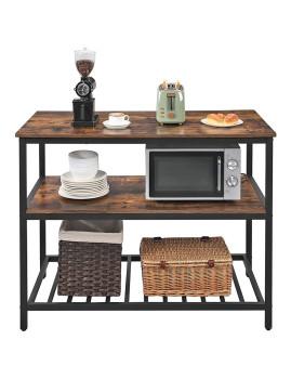 imagem de Mesa Cozinha Com Bancada Larga Castanho Rústico E Preto2