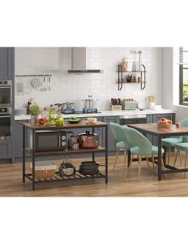 imagem de Mesa Cozinha Com Bancada Larga Castanho Rústico E Preto4
