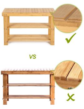 imagem de Banco De Apoio 3 Níveis Bambú Natural2