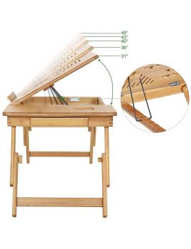 imagem de Mesa De Portátil Bambú Natural4
