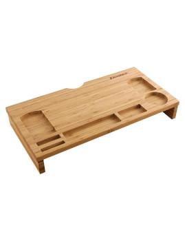 imagem de Suporte De Portátil Bambú Stand Riser Natural1