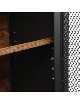 imagem de Móvel Com Portas Metal Castanho Rústico E Preto5