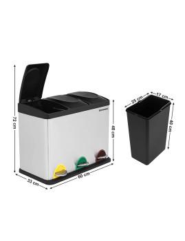 imagem de Caixote Do Lixo Reciclagem 45L Cinza3