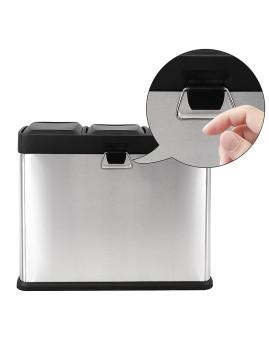 imagem de Caixote Do Lixo Reciclagem 45L Cinza5