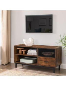 imagem de Móvel Tv Industrial Castanho Rústico E Preto4